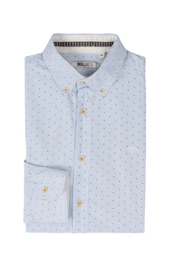 Chemise manches longues DEELUXE S18409SKYB Bleu ciel