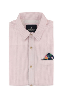 Chemise manches courtes DEELUXE S18427 Rose