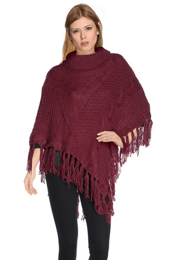 Poncho DEELUXE W16309G Rouge vermillon