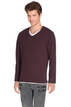 Tee-shirt manches longues DEELUXE W16154 Violet prune