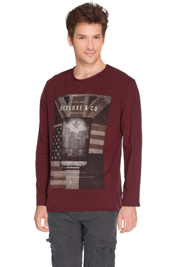 Tee-shirt manches longues DEELUXE W16183 Rouge bordeaux