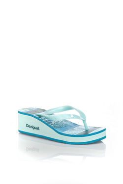 DESIGUAL - Chaussures74HSED7Bleu turquoise