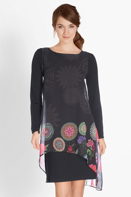 ROBE FAUX ENSEMBLE DESIGUAL