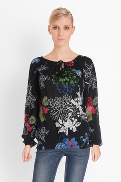 Blouse DESIGUAL 18SWBWC1 BLUS_GREATS MOMENTS Noir