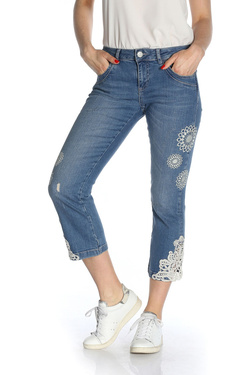 Pantacourt DESIGUAL 18SWDD50 DENIM_SURVIVE Bleu