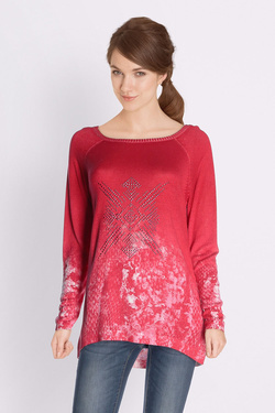 Pull DESIGUAL 18SWJFAV JERS_CHECK TO CHECK Rouge