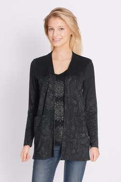 Gilet DESIGUAL 18SWTKIF TS_SONG FOR YOU Noir