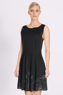 Robe DESIGUAL 18SWVKBI VEST_SAY YES! Noir