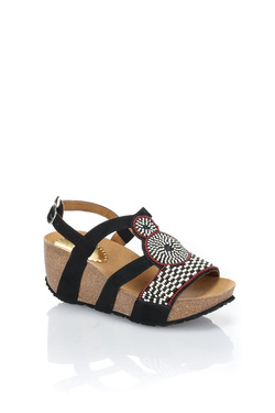 Chaussures DESIGUAL 18SSHF07 SHOES_ODISEA AFRICA Noir