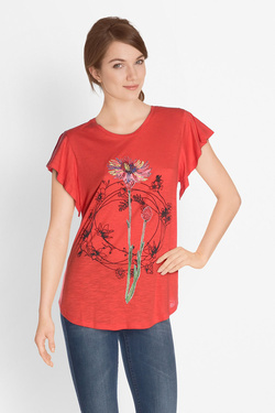 Tee-shirt DESIGUAL 18SWTKDN TS_ANDREW Rouge