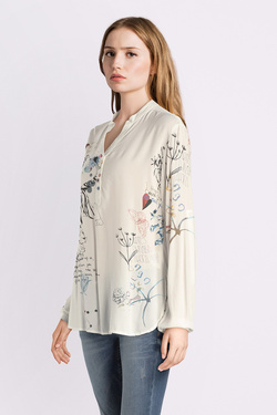 Blouse DESIGUAL 18WWBW06 BLUS_WORDS Ecru