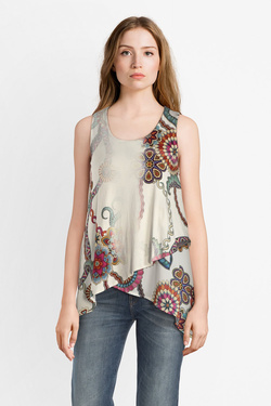 Tunique DESIGUAL 19SWTKAG TS_ARKANSAS Blanc