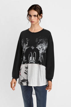 Sweat-shirt DESIGUAL 19SWSK13 SWEAT_MICKEY Noir
