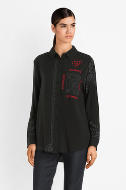 Chemise manches longues DESIGUAL 19WWCW09 CAM SALLY Noir
