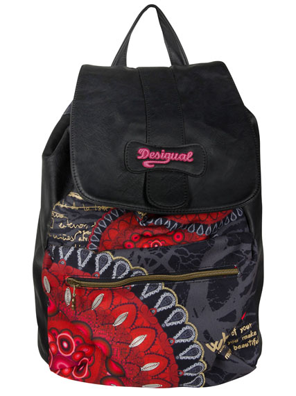 desigual sac 46x5267 osford bolas rojas carry rouge femme des marques et vous. Black Bedroom Furniture Sets. Home Design Ideas