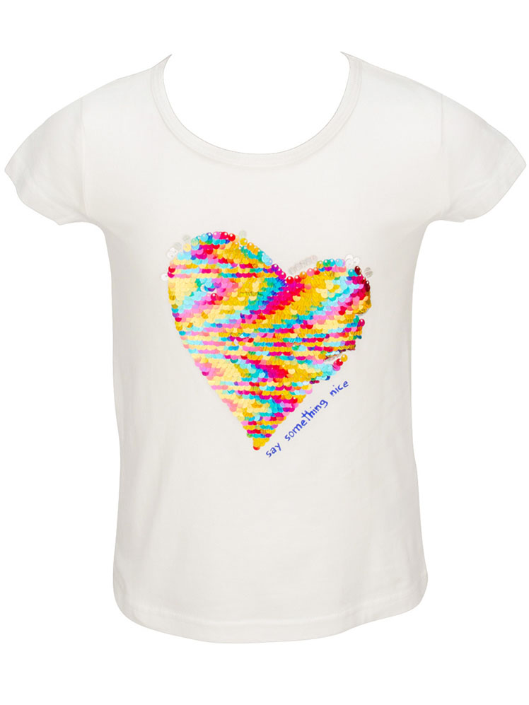 desigual tee shirt 51t30f4 ayabarrena blanc fille des marques et vous. Black Bedroom Furniture Sets. Home Design Ideas