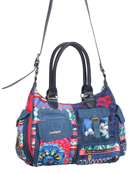 SAC A MAIN MULTIPOCHES AVEC BANDOULIERE DESIGUAL