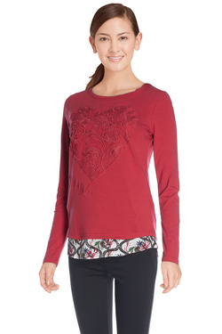 DESIGUAL - Tee-shirt manches longues67T24Y7Rouge