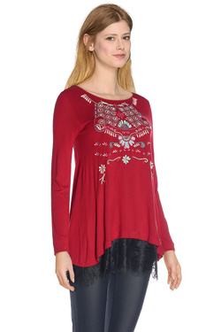 DESIGUAL - Tee-shirt manches longues67T24P4Rouge