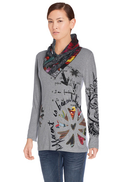 DESIGUAL - Tee-shirt manches longues67T25H8Gris