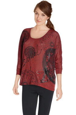 DESIGUAL - Tee-shirt manches longues67T25E2Rouge