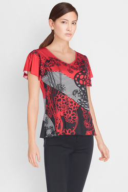 DIANE LAURY - Tee-shirt49DL2TS105Rouge