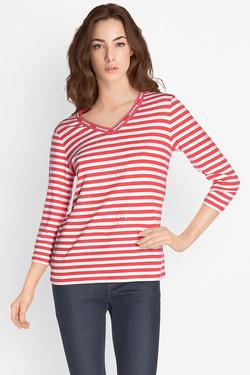 Tee-shirt manches longues DIANE LAURY 49DL2TS810 Rouge