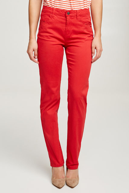 Pantalon stretch toucher velouté DIANE LAURY