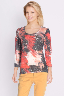 Tee-shirt manches longues DIANE LAURY 50DL2TS425 Orange