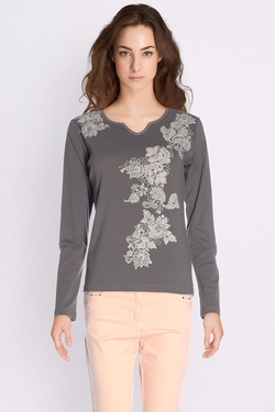 Tee-shirt manches longues DIANE LAURY 50DL2TS245 Taupe