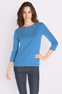 Tee-shirt manches longues DIANE LAURY 50DL2TS890 Bleu turquoise