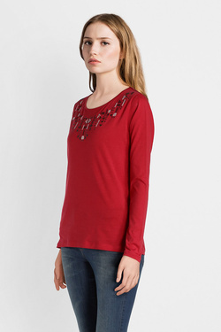 Tee-shirt manches longues DIANE LAURY 50DL2TS361 Rouge