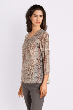 Tee-shirt manches longues DIANE LAURY 52DL2TS413 Taupe