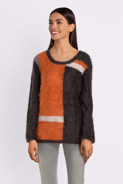 Pull maille poilue DIANE LAURY
