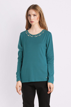 Tee-shirt manches longues DIANE LAURY 52DL2TS821 Bleu turquoise
