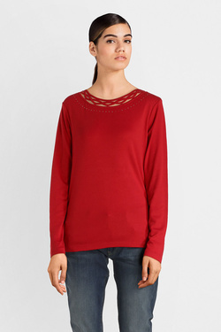 Tee-shirt manches longues DIANE LAURY 52DL2TS821 Rouge