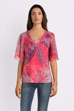 Tee-shirt DIANE LAURY 53DL2TS600 Rose fuchsia