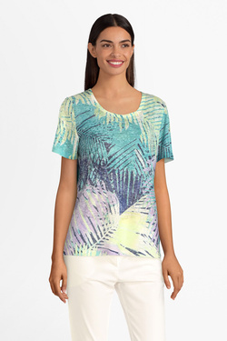 Tee-shirt DIANE LAURY 55DL2TS600 Bleu turquoise