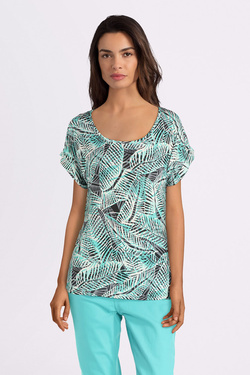 Tee-shirt DIANE LAURY 55DL2TS603 Bleu turquoise