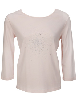 Tee-shirt manches longues DIANE LAURY 46DL2TS900 Rose pale