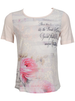 DIANE LAURY - Tee-shirt47dl2ts302Rose pale