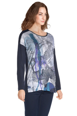 Tee-shirt manches longues DIANE LAURY 48DL2TS116 Gris