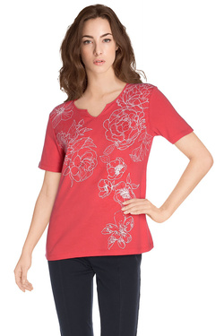 Tee-shirt DIANE LAURY 48DL2TS106 Rose vif