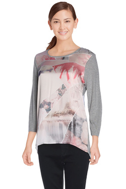 DIANE LAURY - Tee-shirt manches longues48DL2TS109Gris