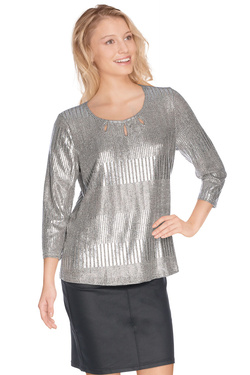 Tee-shirt manches longues DIANE LAURY 48DL2TS823 Argent