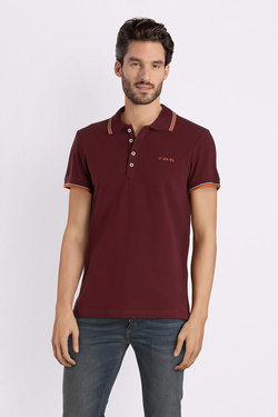 Polo DIESEL 0MXZA Rouge bordeaux