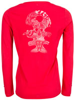 DIPLODOCUS Tee-shirt manches longues rouge OTAG-A39