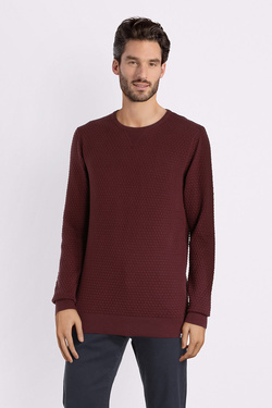 Pull DSTREZZED 404124 Rouge bordeaux