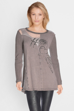 Tee-shirt manches longues ELISA CAVALETTI ELW175046905 Taupe
