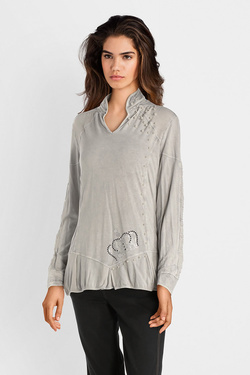 Tee-shirt manches longues ELISA CAVALETTI ELW181020801 Gris